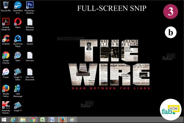 Take Full screen snip