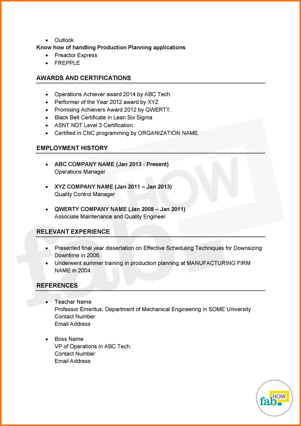 Amazing Margins For Resume   How To Make An Outstanding Resume Get Free Samples