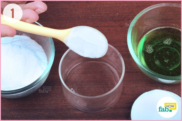 Add baking soda in mixing bowl