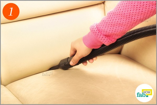 Vacuum the sofa