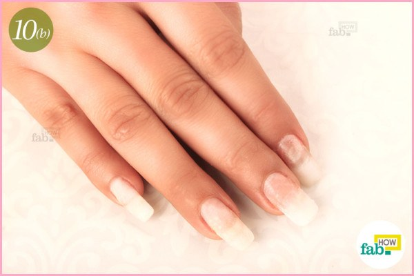 Rinse and moisturize your nails