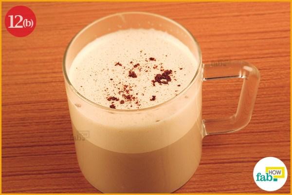 Creamy coffee ready