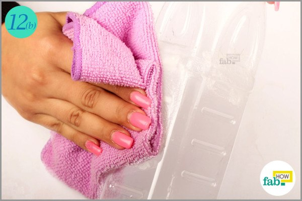 Wipe clean with a wet towel