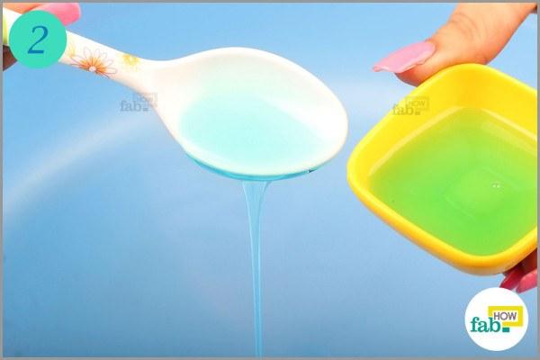 Add dishwashing liquid