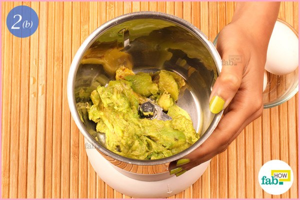 Step 2.2 Scoop out the pulp into a blender