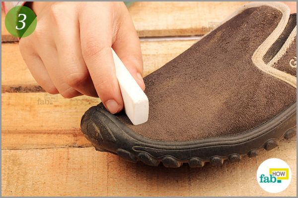 how to clean suede fabric shoes