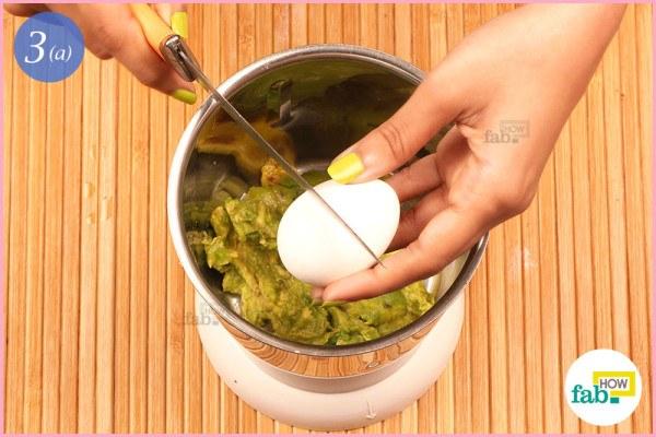 Step 3.1 Add egg yolk