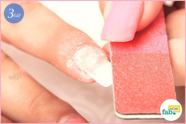 File the foremost part of your nails