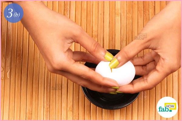 Step 3.2 Add egg yolk