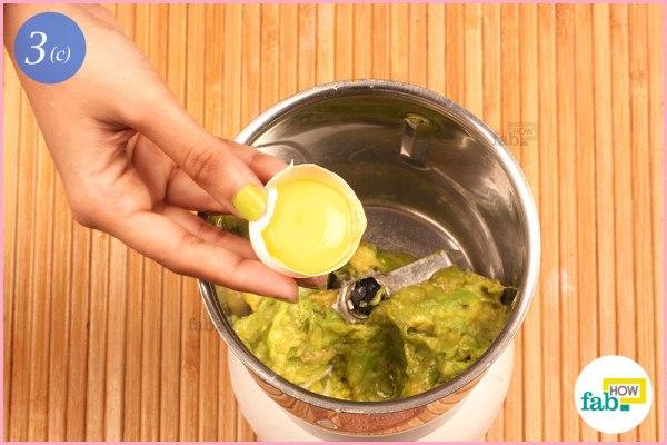 Step 3.3 Add egg yolk