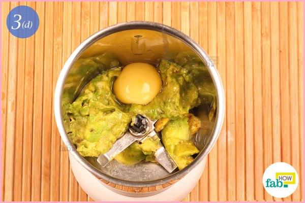 Step 3.4 Add egg yolk
