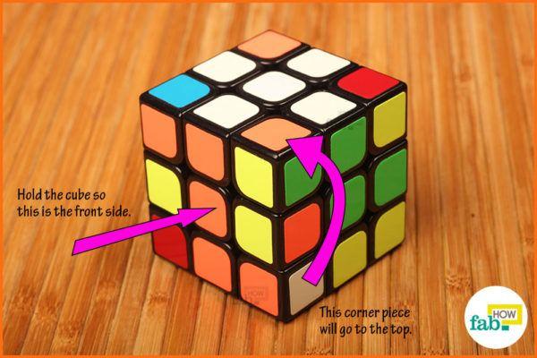 Solve white corner 1
