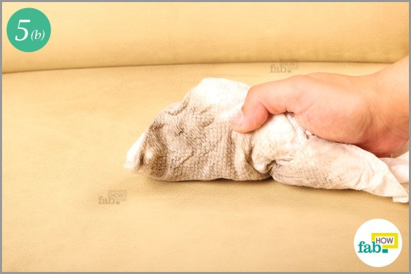 Step-5.2 Clean the sofa with the damp lint-free cloth
