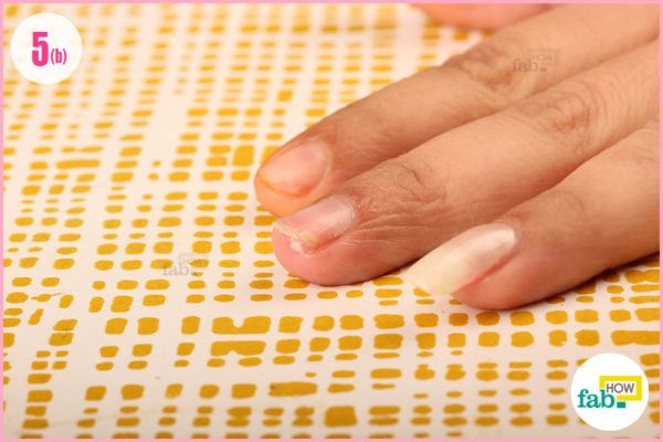 Moisturize nails with olive oil