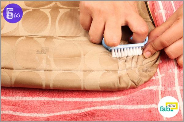 Use nail brush zippers difficult spots