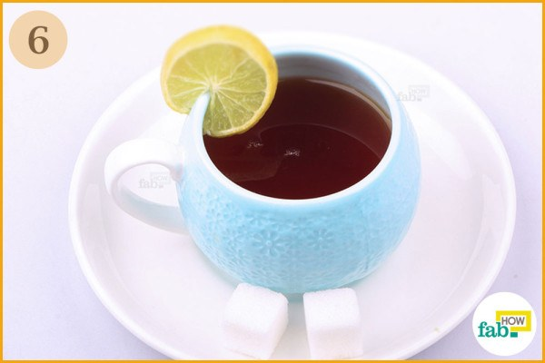 Enjoy your tea with lemon and/or sugar