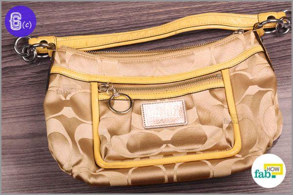 Clean Coach bag