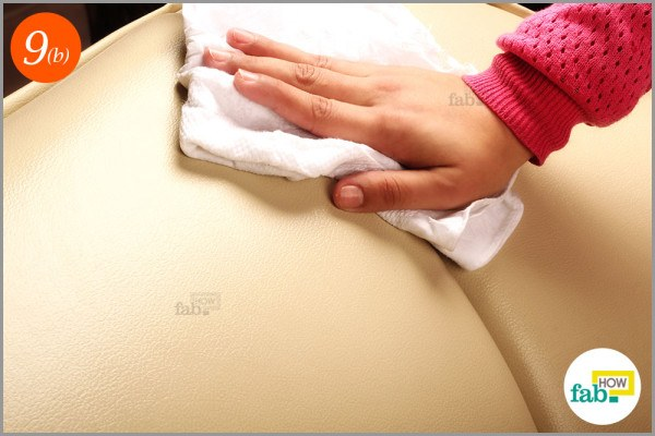 Step-9.2 Clean the soap offthe-surface with the damp cloth