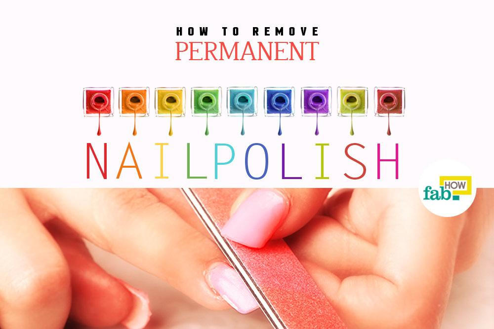 Get off permanent nail polish
