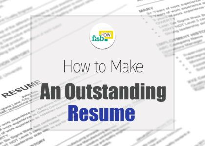 Make an outstanding resume