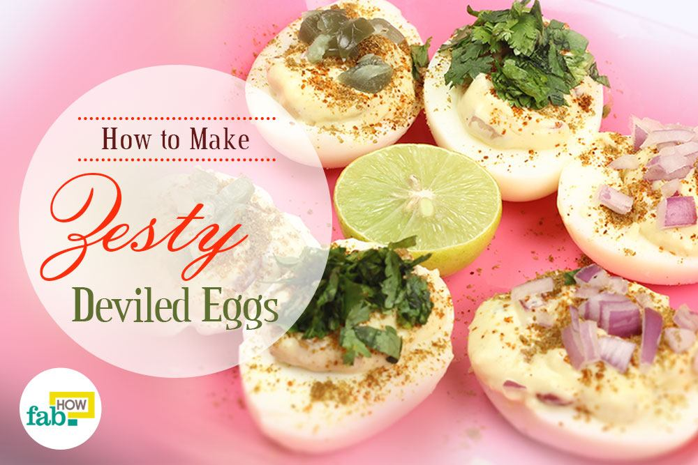 Make spicy deviled eggs