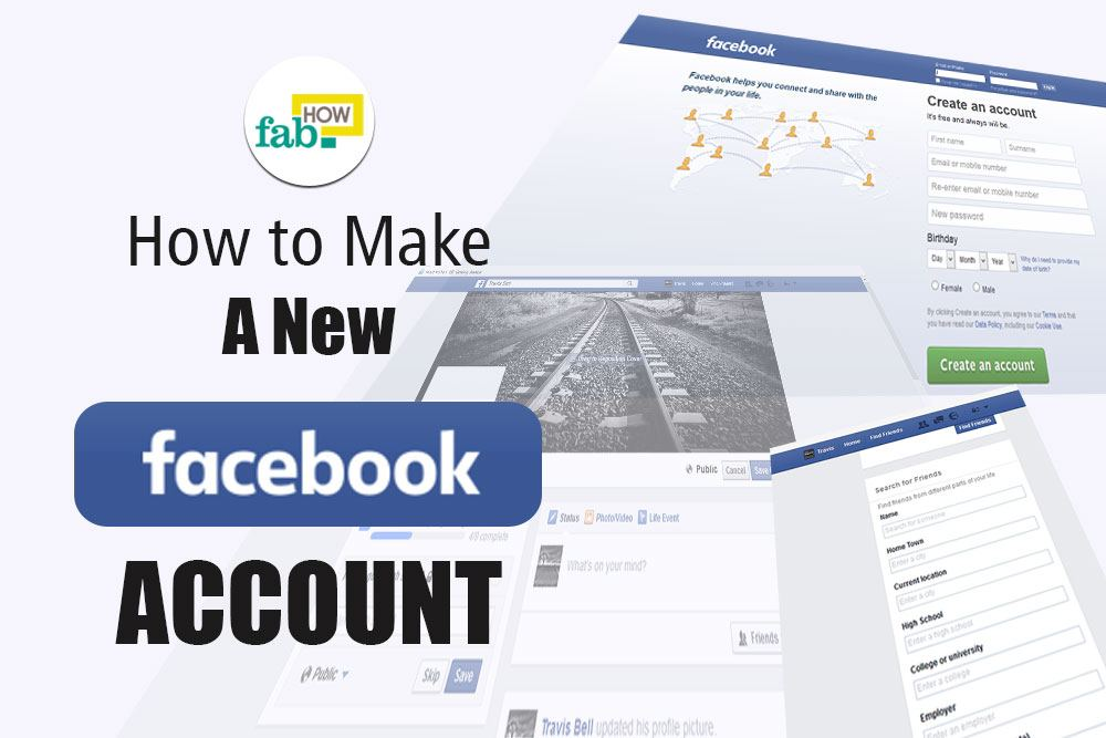 Make new facebook account