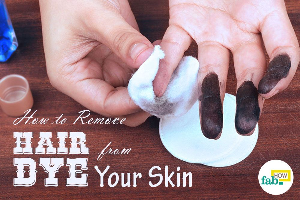 Remove hair dye stains from skin