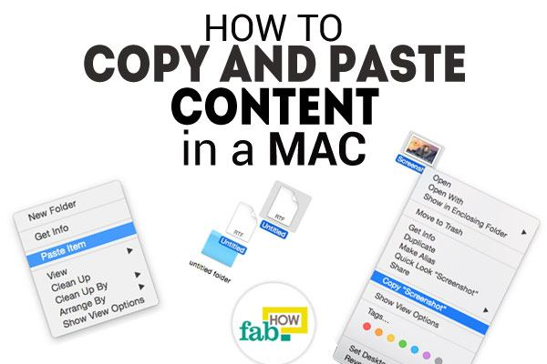 Copy paste content in mac
