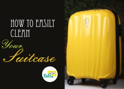 Easily clean your suitcase