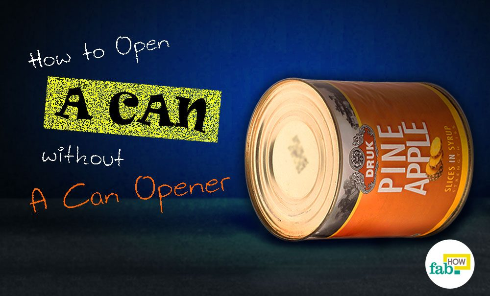 how to open spam can without opener