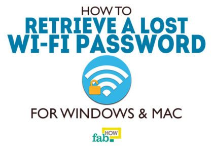 Retrieve lost wifi password windows and mac
