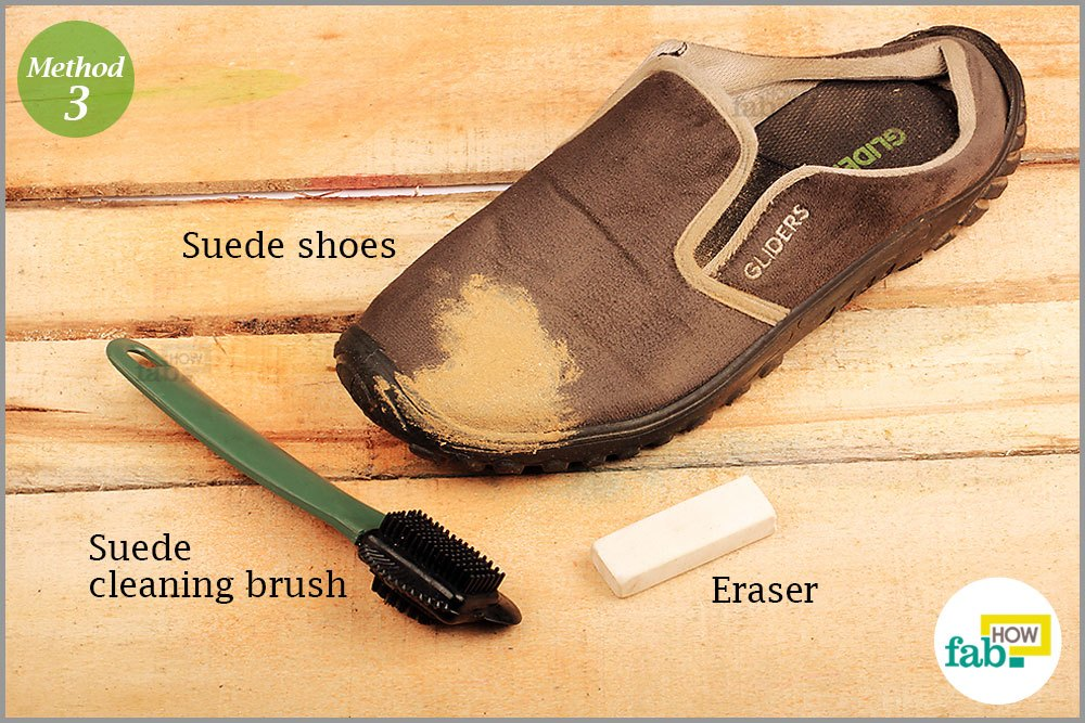 how to clean suede shoes remove oil water and mud stains fab how. Black Bedroom Furniture Sets. Home Design Ideas