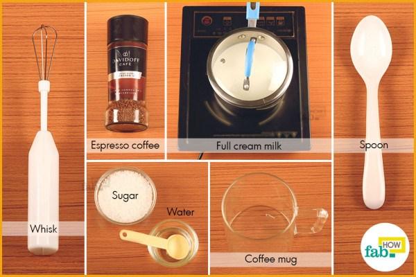 Creamy coffee things need