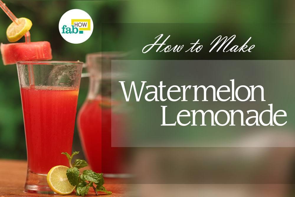 Make watermelon lemonade