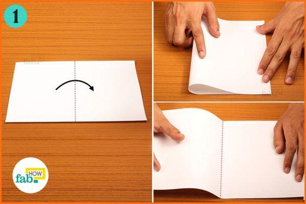 Fold paper half