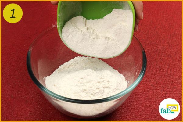 Put flour in bowl