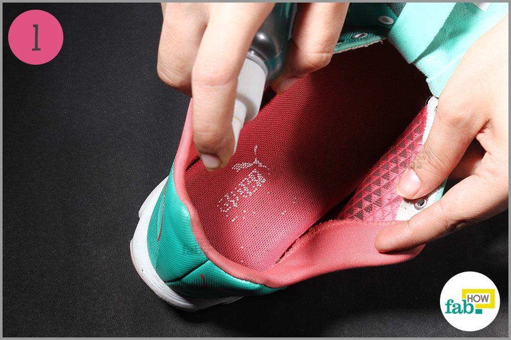 Spray Mouthwash In The Shoes And Let It Dry Out