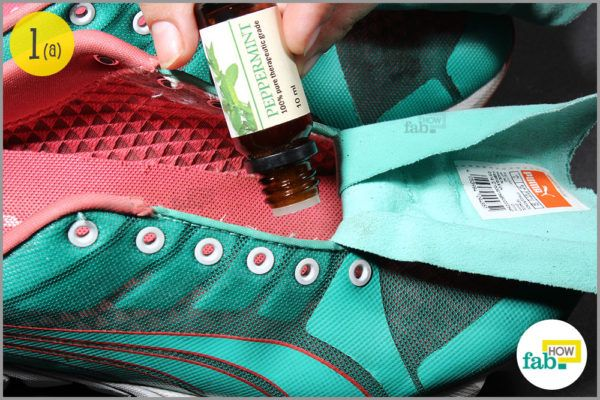 Put a few drops of any essential oil in your shoes