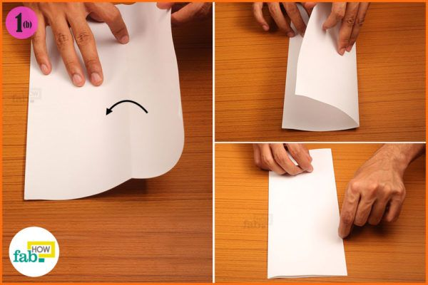 Flip paper-and fold unfold the paper in half