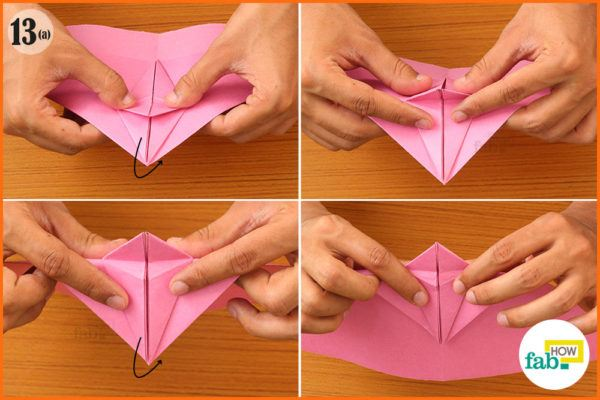 Fold the top portion
