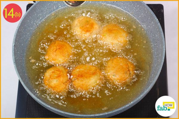 Deep fry the cheese balls