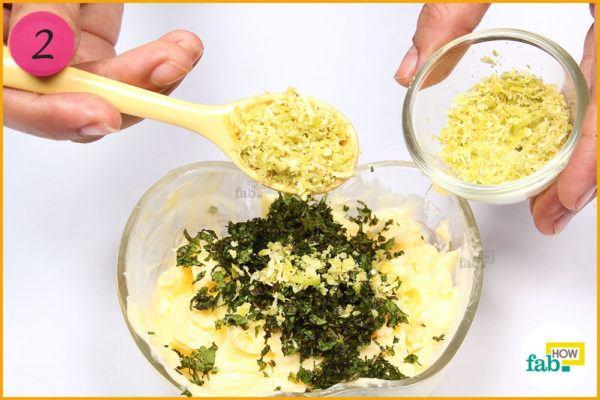Add lemon zest