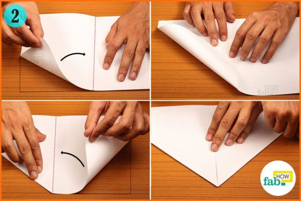 Fold the corners