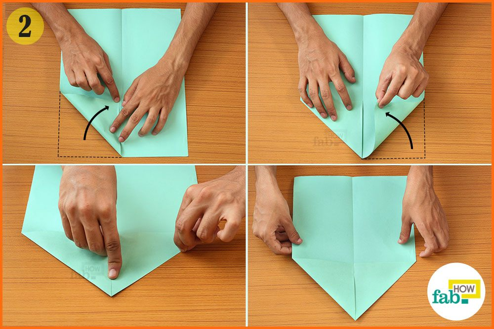 fold the top two corners