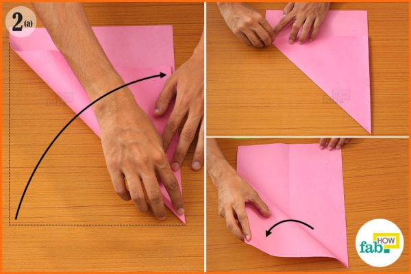 Fold the top corners
