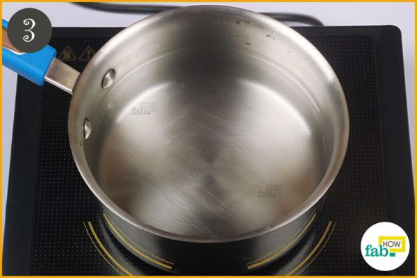 Fill a saucepan with water