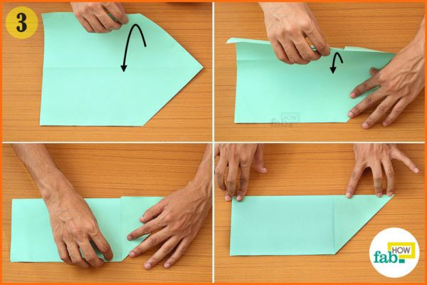 Fold the paper in half
