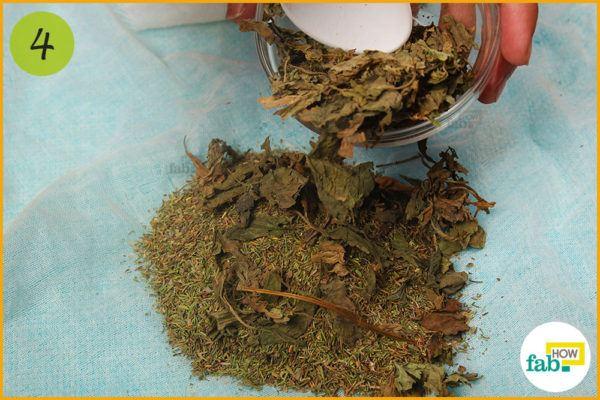 Add dried basil