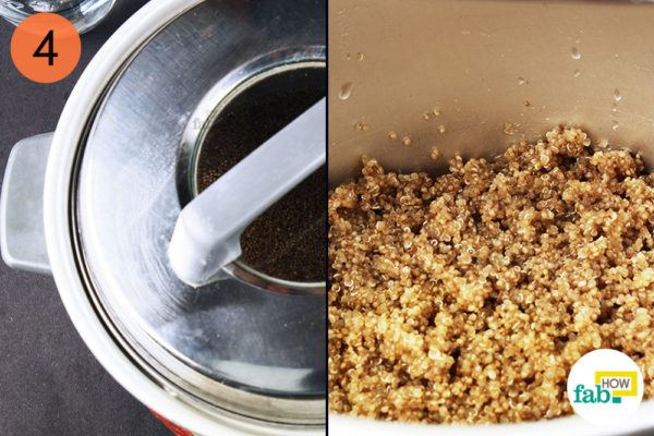 Cook the quinoa for 15 minutes