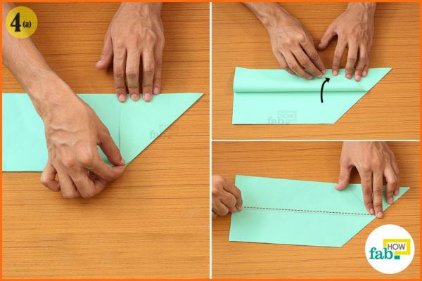 Fold the edges toward the base